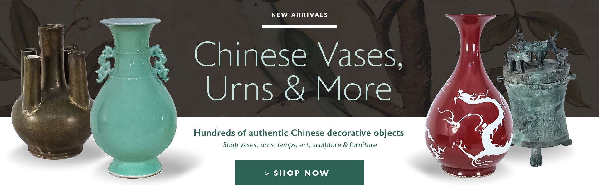Chinese Vases, Urns & More